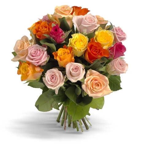 Букет «Первоклассные цветные розы»