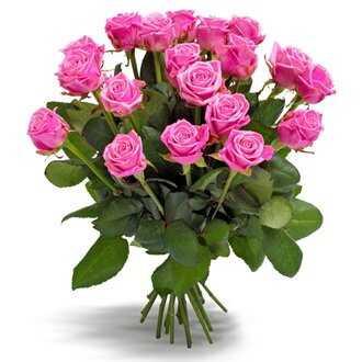 Букет «Первоклассные розовые розы»