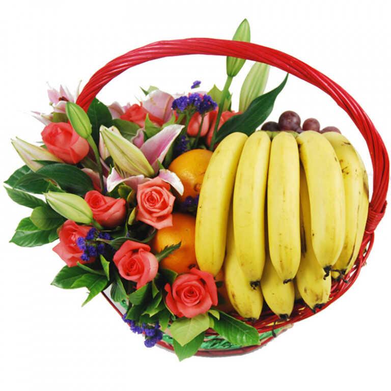 Корзина с продуктами «Дарю Вам счастье»