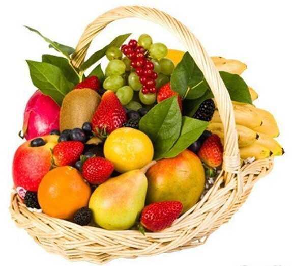 Корзина с продуктами «Фрукты-ягоды»