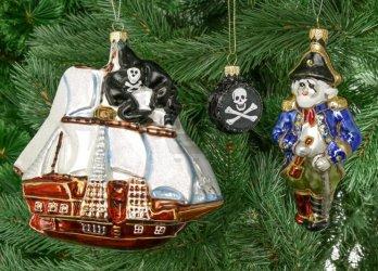 Сувенир «Набор елочных игрушек Пират и корабль»