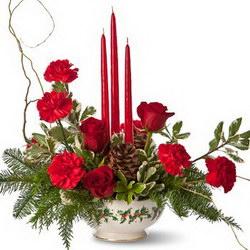 Композиция «Новый год при свечах»