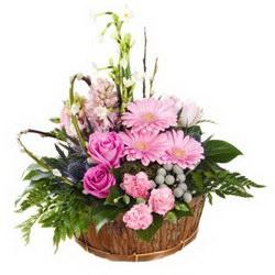 Корзина «Розовое счастье»