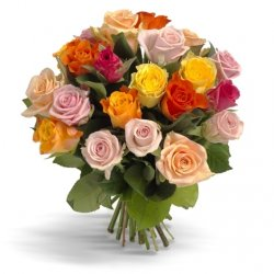 «Первоклассные цветные розы» Букет нежных оттенков роз. Используются сортовые розы средней длины. Доставка в Балаклею.