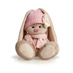 Мягкая игрушка «Зайка Ми в розовой шапочке»
