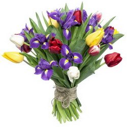«Императрица» Нежные и весенние цветы собраны в этом букете. Он выражает женственность и скромность. Доставка в Ретинское (г.Полярный).